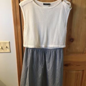 Mid length croptop/jean dress